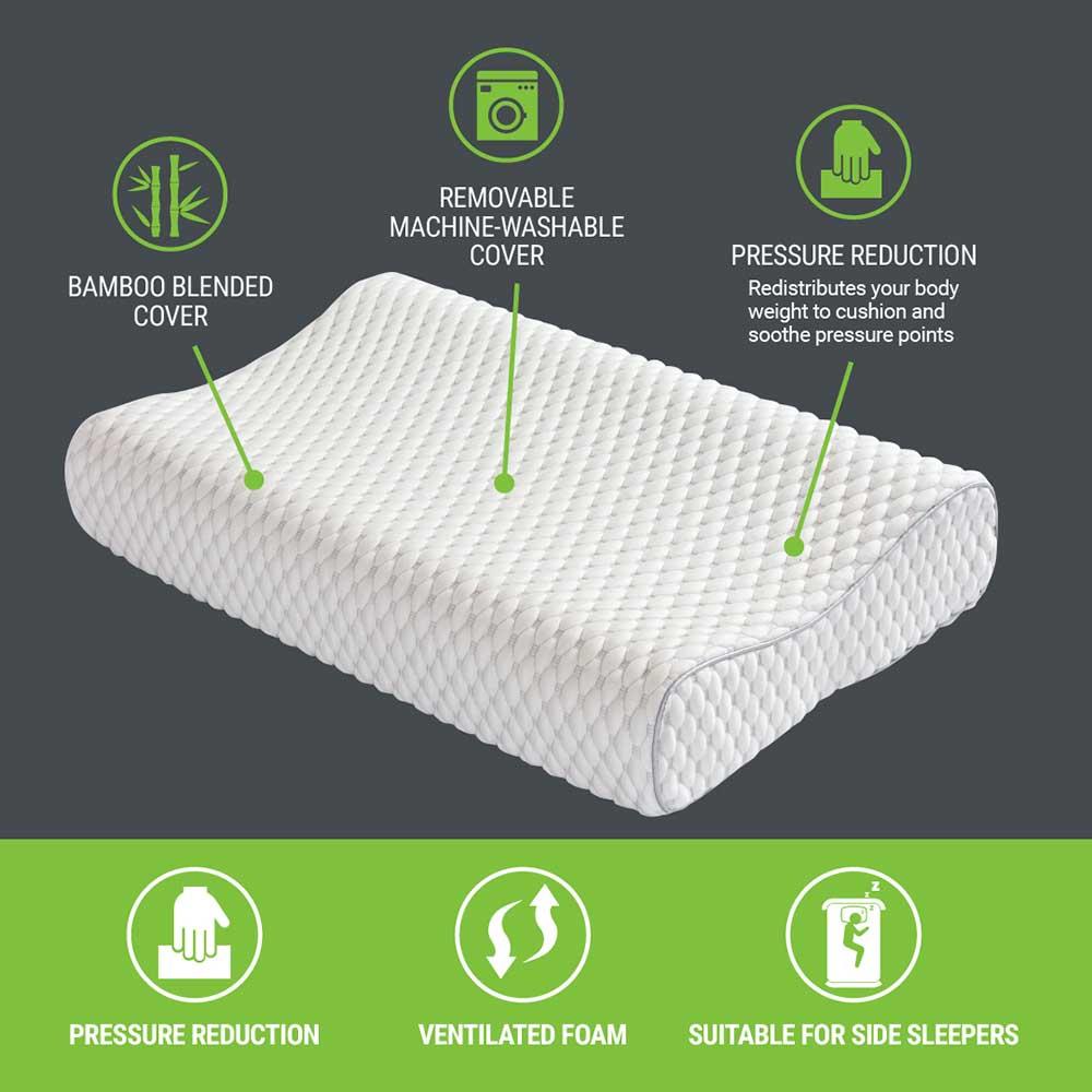 dream science contour memory foam pillow