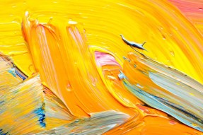 abstract yellow oil paint