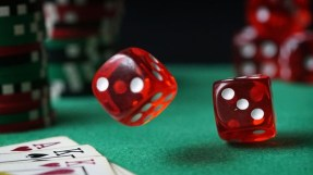 dice rolling close up maths