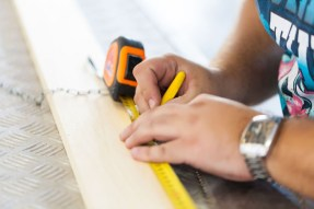 measuring tape wood work