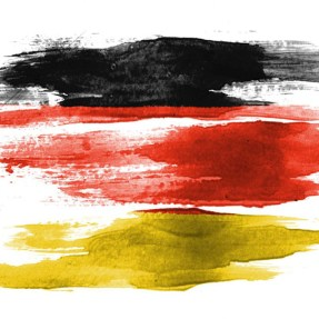 abstract painted german flag
