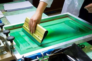 green screen printing
