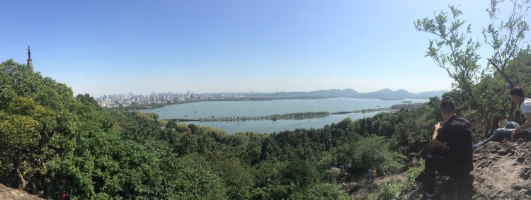 On a clear day, the view from the pagoda is frigging awesome!