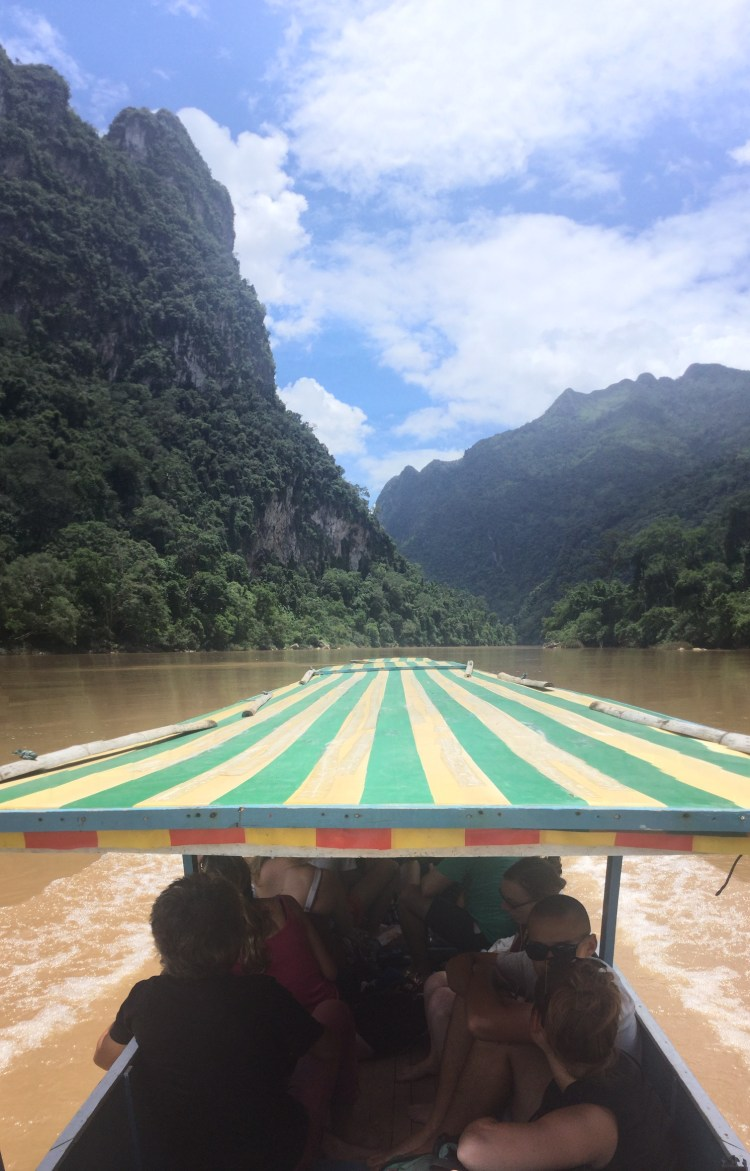 Taking the boat is a common way to travel in Laos. With gorgeous scenery, you can see why.