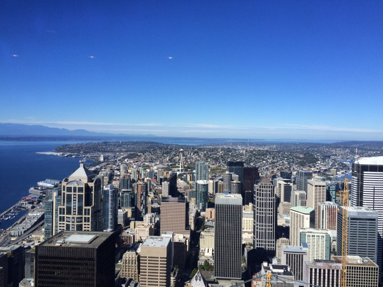 Next was Seattle: Blue skies and gorgeous views