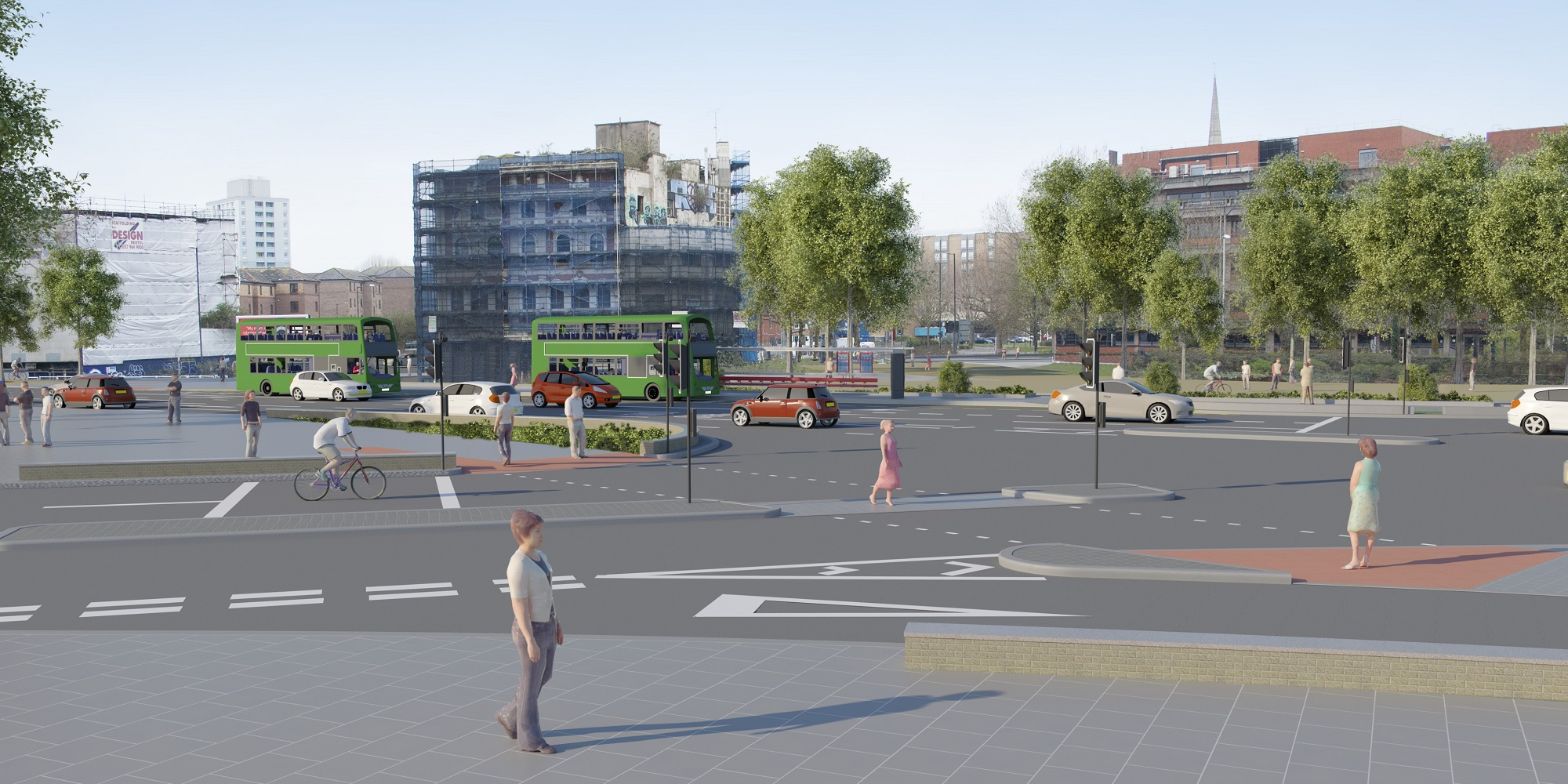 Visual of the new junction
