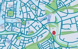 Arena location map