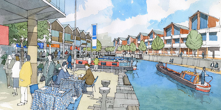 Artist's impression of how the area could look
