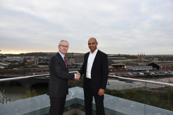 Professor Hugh Brady and Marvin Rees