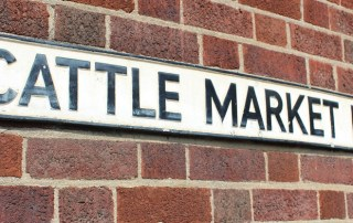 Cattle Market Road sign