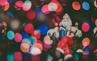 Santa and fairy lights
