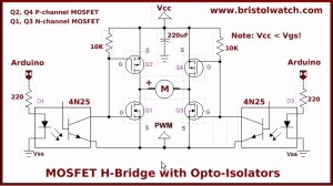 Optical Isolation HBridge Motor Controls