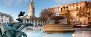 trafalgar square fountains london