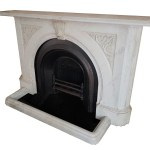 Buy Online Antique Large Victorian Carrara Marble With The Arch Insert Fireplace