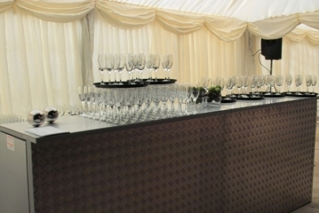 2 silver bar units for hire