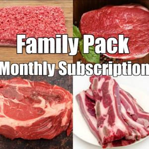 Beef Family Pack- 6 to 8 meals Monthly Subscription