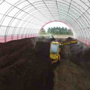 Two 80′ x 200′ Compost Storage Fabric Buildings | Harold Martin