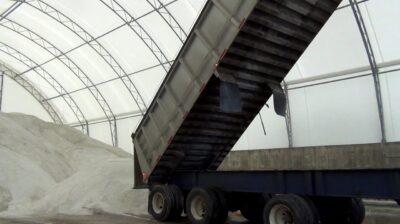 Town of Essex 60' x 120' Apex Building Series for Salt Storage