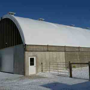 50' x 80' Beef Barn on Existing Bunk