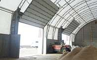 Fabric buildings and fabric structures doors