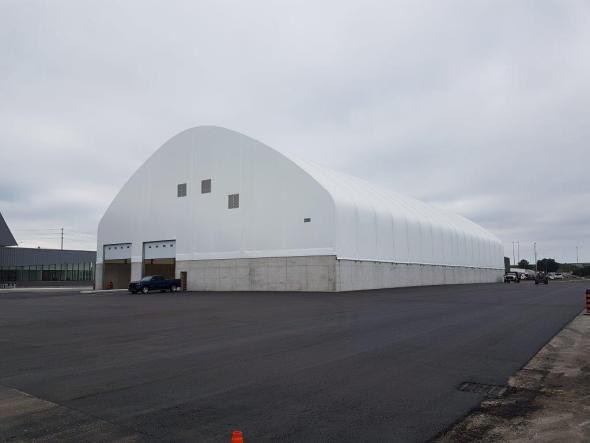 125' x 250' Salt Storage Fabric Building