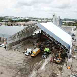 120' x 120' Waste Sorting Facility Fabric Building