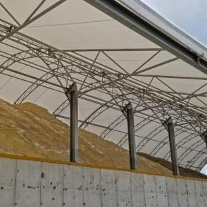 80' x 100' Salt Storage Fabric Structure, Coshocton, OH