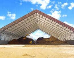 Bulk Storage and Commodity Storage Buildings, Composting Facility, Grain Storage using Britespan Fabric Buildings