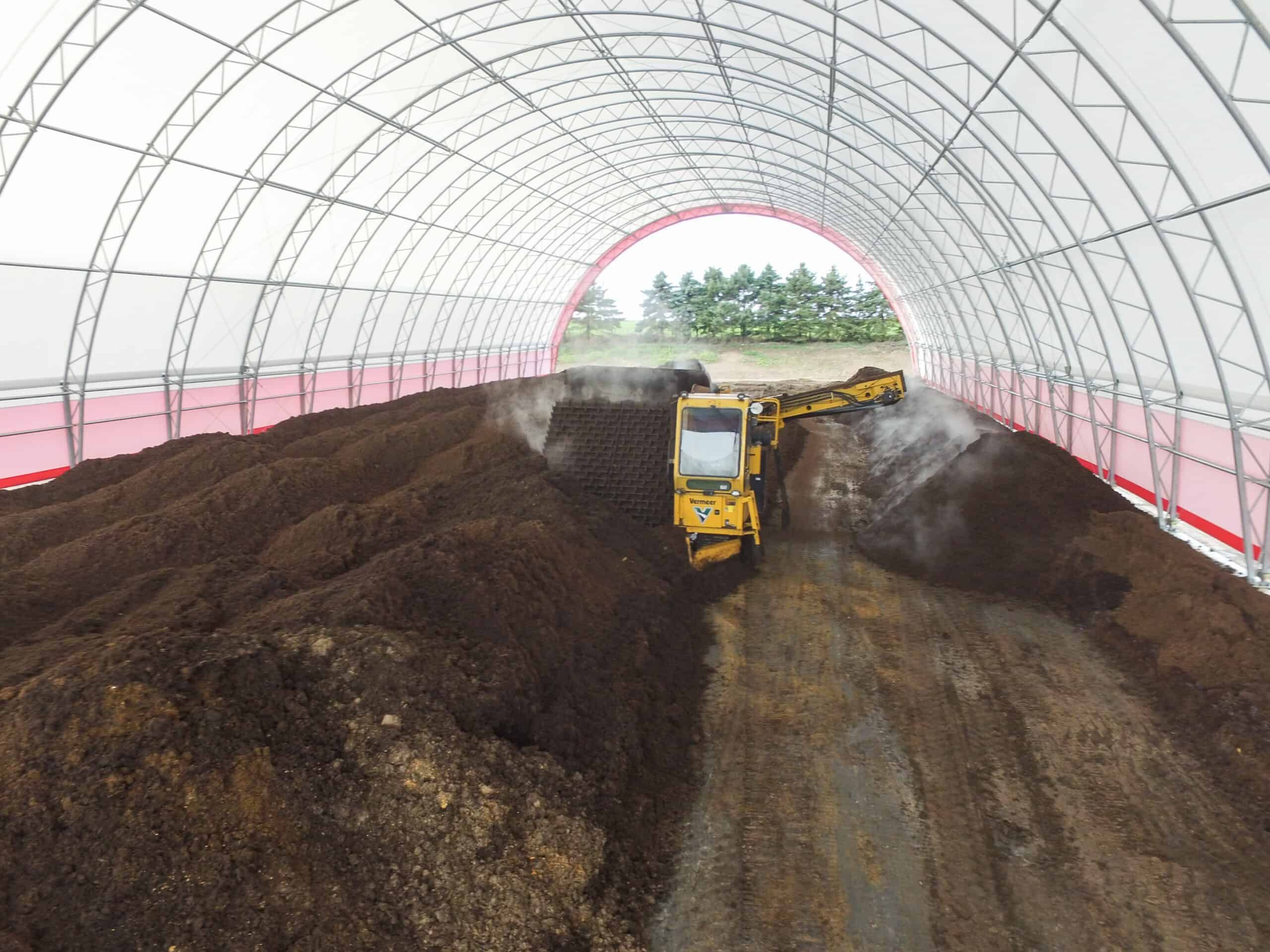 Commodity Storage Fabric Building for Compost