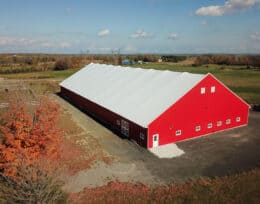 Indoor Horse Riding Arena, Horse Barns, Horse Shelters built with Britespan Fabric Buildings