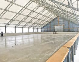 Indoor Hockey Rinks and Indoor sports Arenas built using Britespan Fabric Buildings