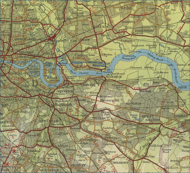 map river thames     river thames map