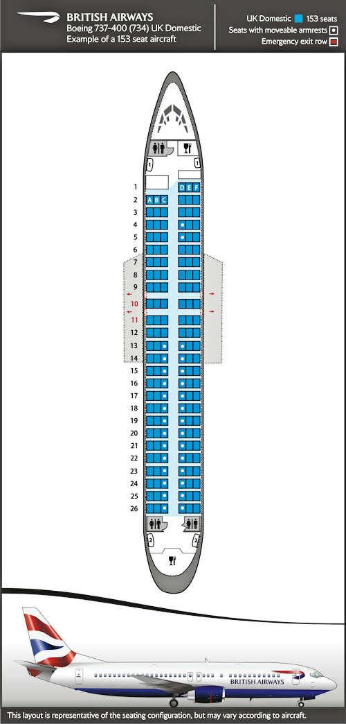 Sitzplan Fr Inlandsflge Fr Boeing 737 400
