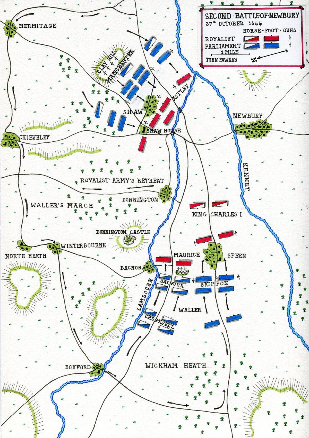Second Battle Of Newbury In The English Civil War