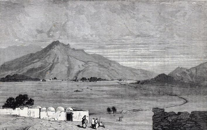 Battlefield of the Battle of Maiwand on 26th July 1880 in the Second Afghan War