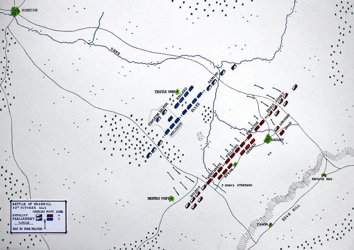 English Civil War Battle Of Edgehill