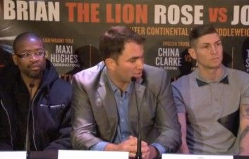 brian rose v joachim alcine press conference video post