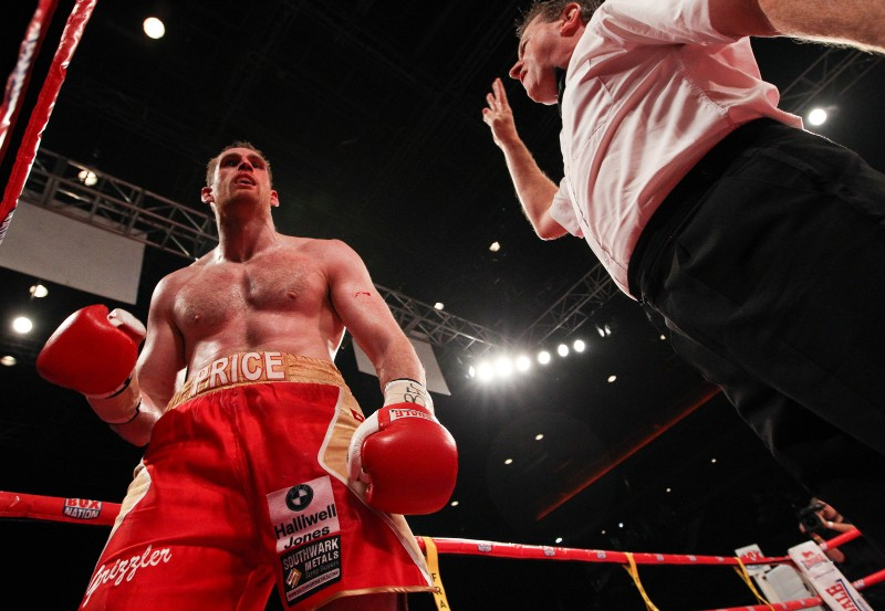 david price counted out boxing