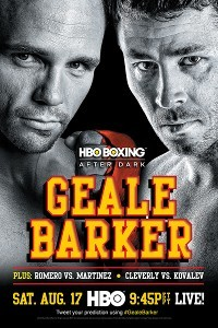 Geale Barker fight poster