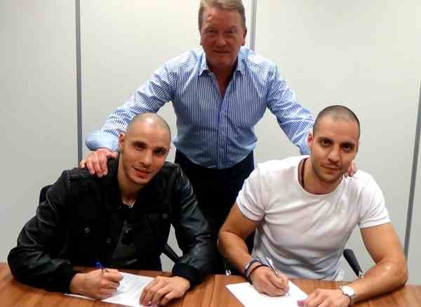 evangelou brother sign with frank warren