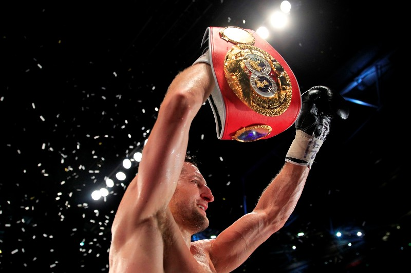 FROCH-GROVES 2WBA AND IBF SUPERMIDDLEWEIGHT TITLEWEMBLEY ARENA,WEMBLEYPIC;LAWRENCE LUSTIGCARL FROCH V GEORGE GROVES CARL FROCH WINS BK KNOCKOUT
