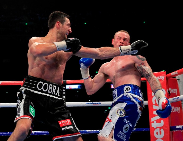 FROCH v GROVES2 THE REMATCH WEMBLEY STADIUM LONDON PIC;LAWRENCE LUSTIG WBA & IBF Super Middleweight World Championships Carl Froch v George Groves Carl Froch aand George Groves