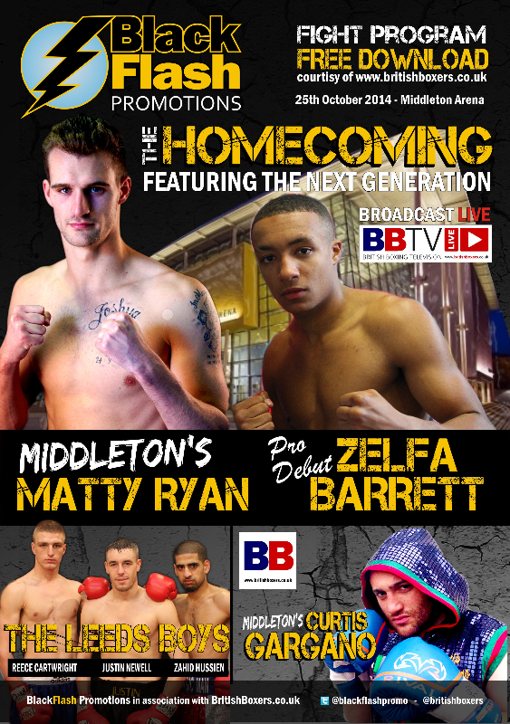 Pat Barrett fight night middleton 25 oct 2014