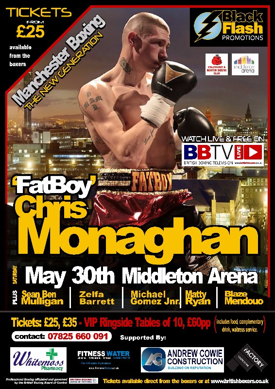 chris monaghan fight poster