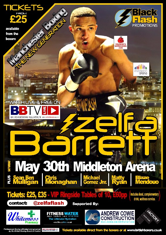 zelfa barrett fight poster may 30th
