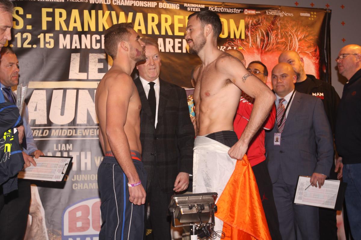 ANDY LEE VS BILLY JOE SAUNDERS WEIGH IN