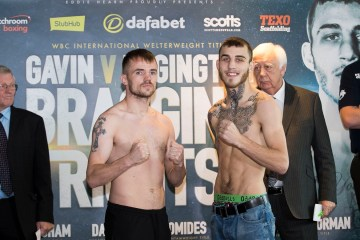 Frankie Gavin and Sam Eggington  weigh in today in birmingham as they prepare for their fight for the vacant WBC International Welterweight title tomorrow night in Birmingham. 21st October 2016. Picture By Mark Robinson.