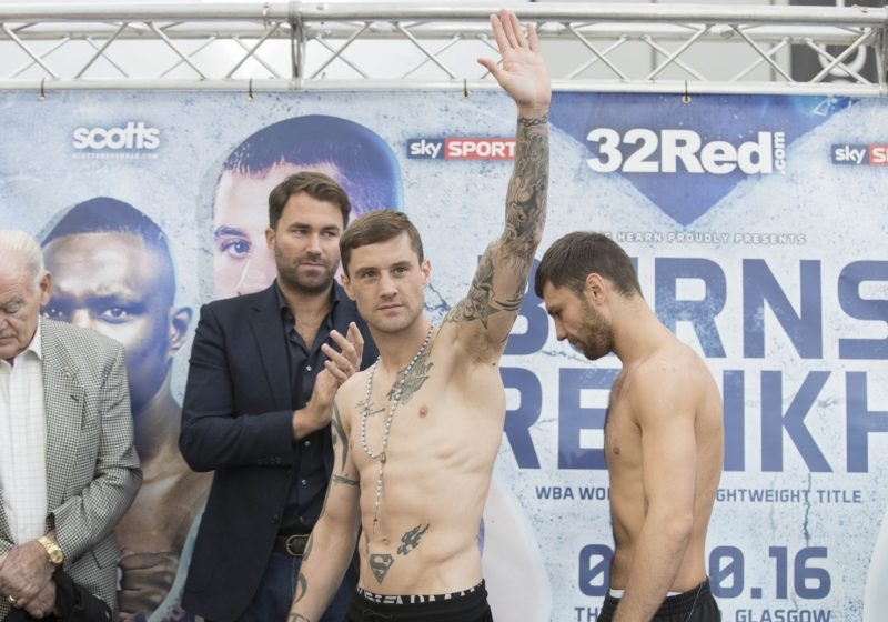 Ricky Burns  WBA World Boxing Champion at the Weigh-In