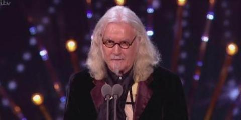 Billy Connolly accepts his 2016 NTA award at london's o2