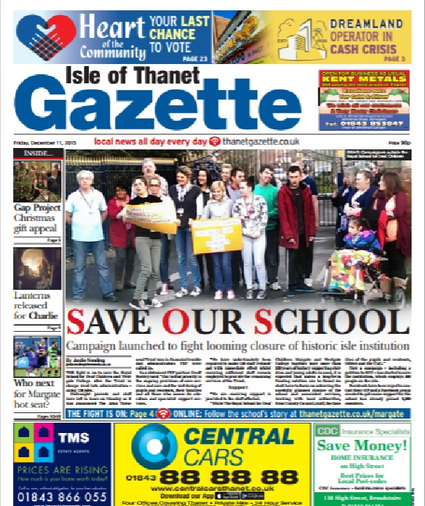 The Isle of Thanet Gazette campaigned to save the school
